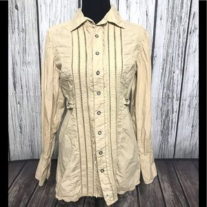 Free People Tunic Button down shirt